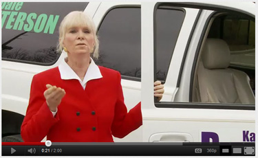 Kathy Peterson ad screenshot