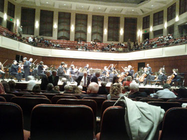 During intermission at the ASO Bon Voyage concert in 2012