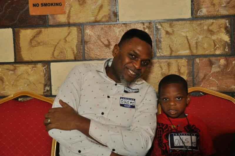 6 year old contestant Agboli Joshua and his Dad
