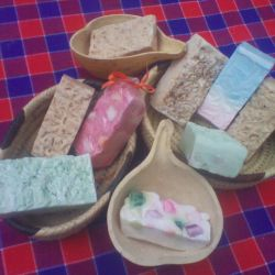 Colored Handmade soaps