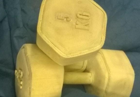 5kg Rubber Coated Fitness Dumbbells