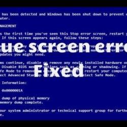 Desktop Blue Screen Repair