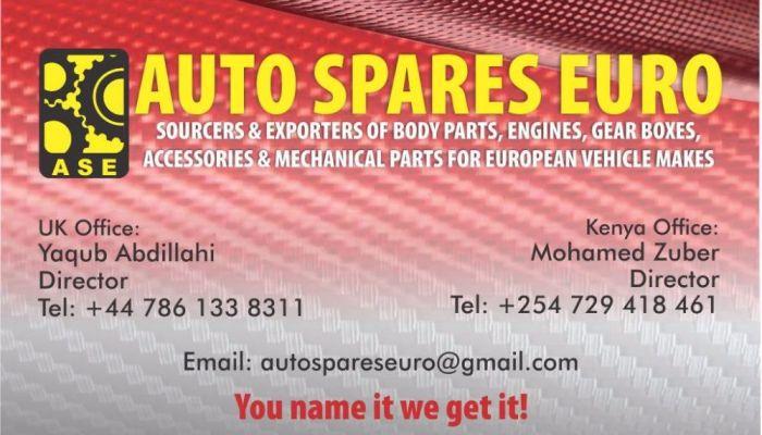 Auto Spares Euro business card