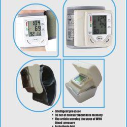 wrist worn blood pressure monitor