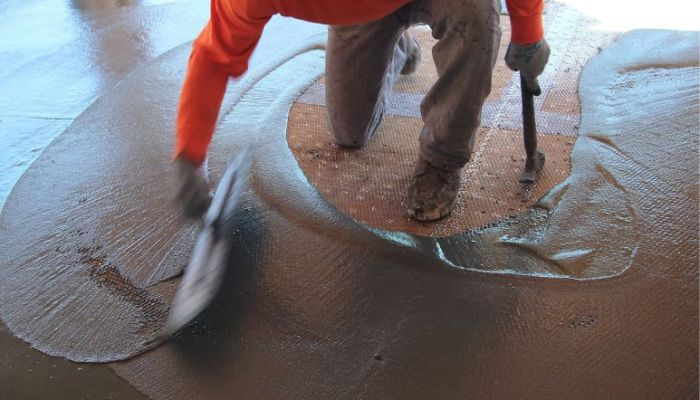 concrete waterproofing surface applied