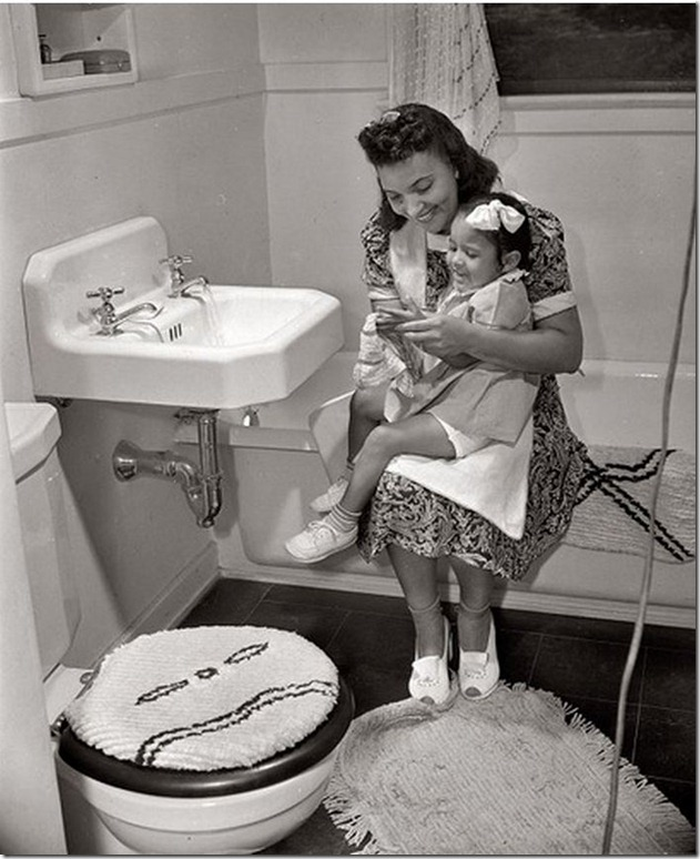 1942 Mother, daughter in Washington, DC housing project - Gordon Parks