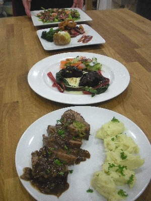 Dishes in competition - just before the judges got their forks into them