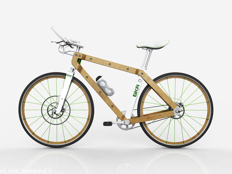 Wooden bike by Pietro Russomanno :: via Bicycle Design