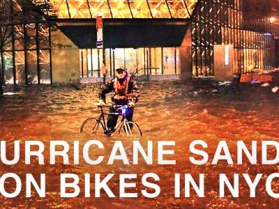 Hurricane Sandy on Bikes in NYC