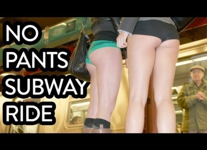 Improv Everywhere : No Pants Subway Ride 2013