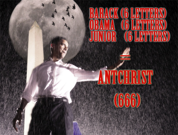 Barack (6) Obama (6) Junior (6) Equals 666, The Final Code for Armageddon