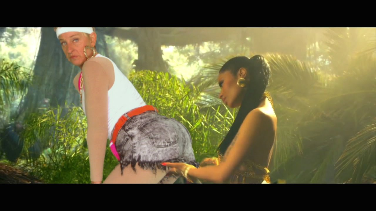 Ellen Spoofs Anaconda Music Video