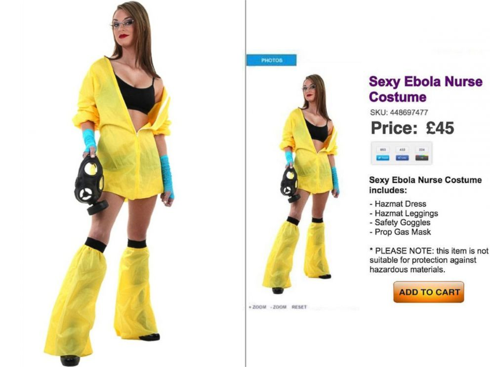 Sexy Ebola Nurse Halloween Costumes Go On Sale, Causing Tempers to Flare