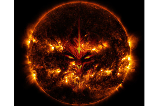 Satan Appears In the Sun To Show Approval For How Horrible Earth Is Right Now