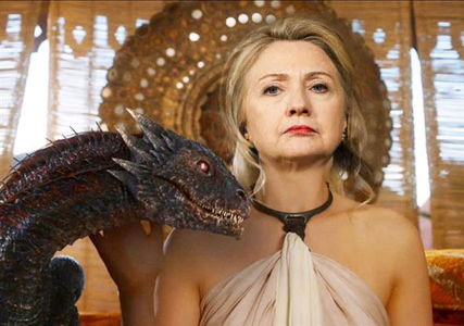 Hillary Clinton, The Dragon Mother of Liberal Darkness