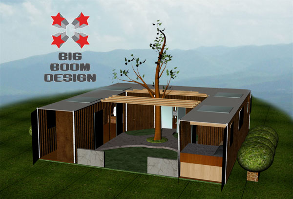 Off grid living in a shipping container home big boom blog - Off the grid shipping container homes ...