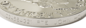 Medal engraving example