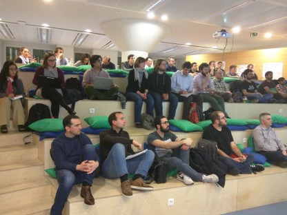 The aula for our 35th meetup was well-attended