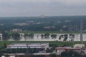 Brazos River Flooded in Dallas