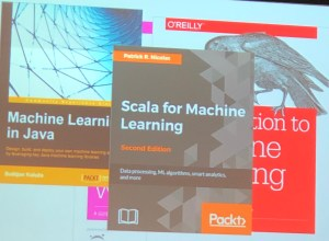 Machine Learning book covers, all with a specified language