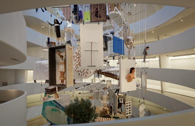 Installation view: Maurizio Cattelan: All, Guggenheim, New York