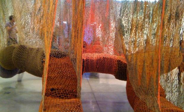 Ernesto Neto at the Tanya Bonakdar Gallery, New York