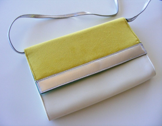 H&M yellow clutch bag