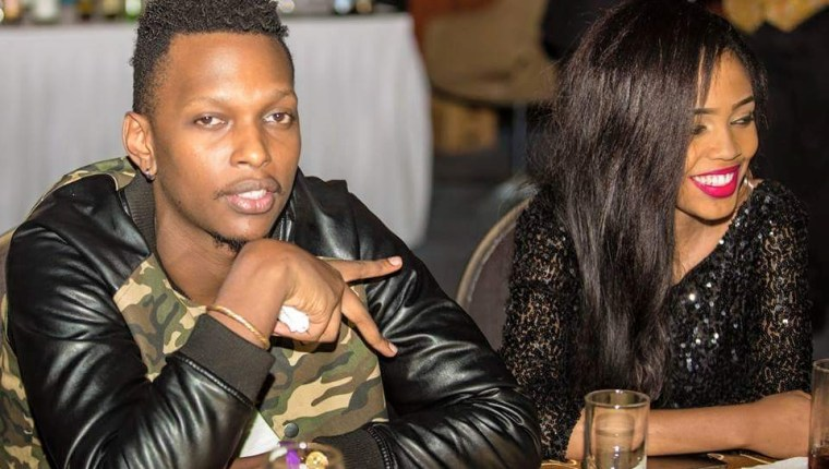 Allan Toniks and Flosha at Lilian Mbabazi's concert recently