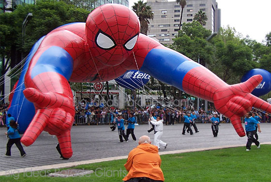 Spiderman Helium Balloon in Flight