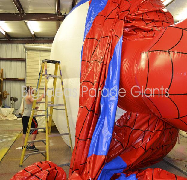 Creating the Spiderman Parade Balloon