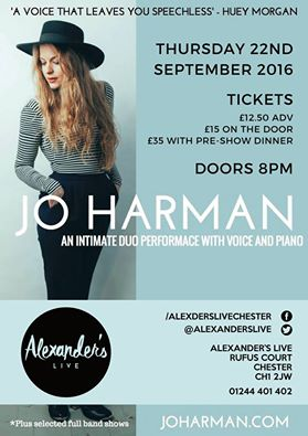 Jo Harman 'Duet Show' Tour – Many Shows Selling Out