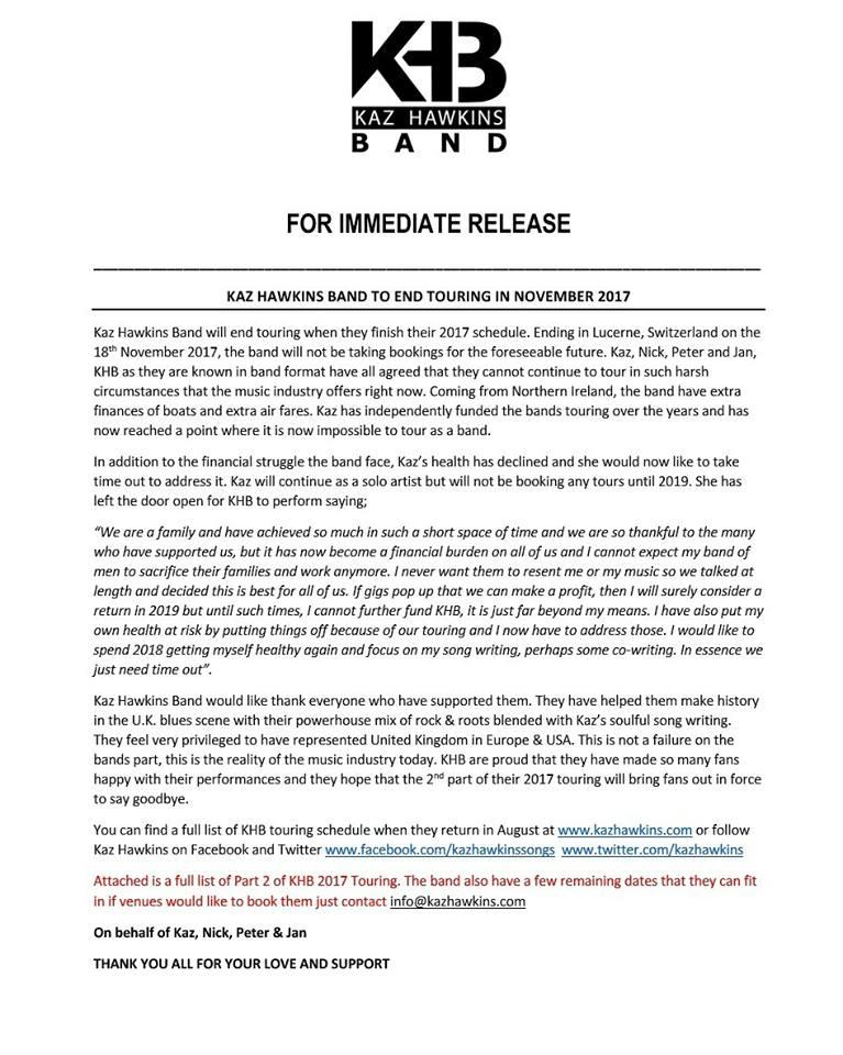 kaz press release