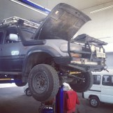 Boris being serviced