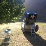 Rise and shine!! Camping next to the Oxus River (Kalaiklum, Tajikistan)