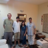 Me, Udrrek, Shweta, and MK (Patna, India)