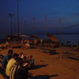 Asi Ghat at 5am preparing for a boat ride (Varanasi, India)