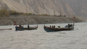 Boats on the Lake (Attabad Lake, Pakistan)