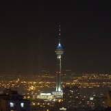 Milad Tower at night (Tehran, Iran)