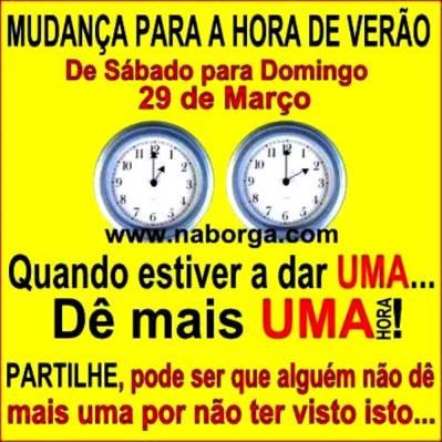 Mudança da hora em Portugal – Muito Importante!!! | BigSlam