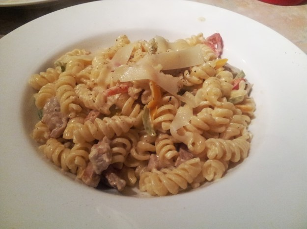 pork pepper primavera pasta