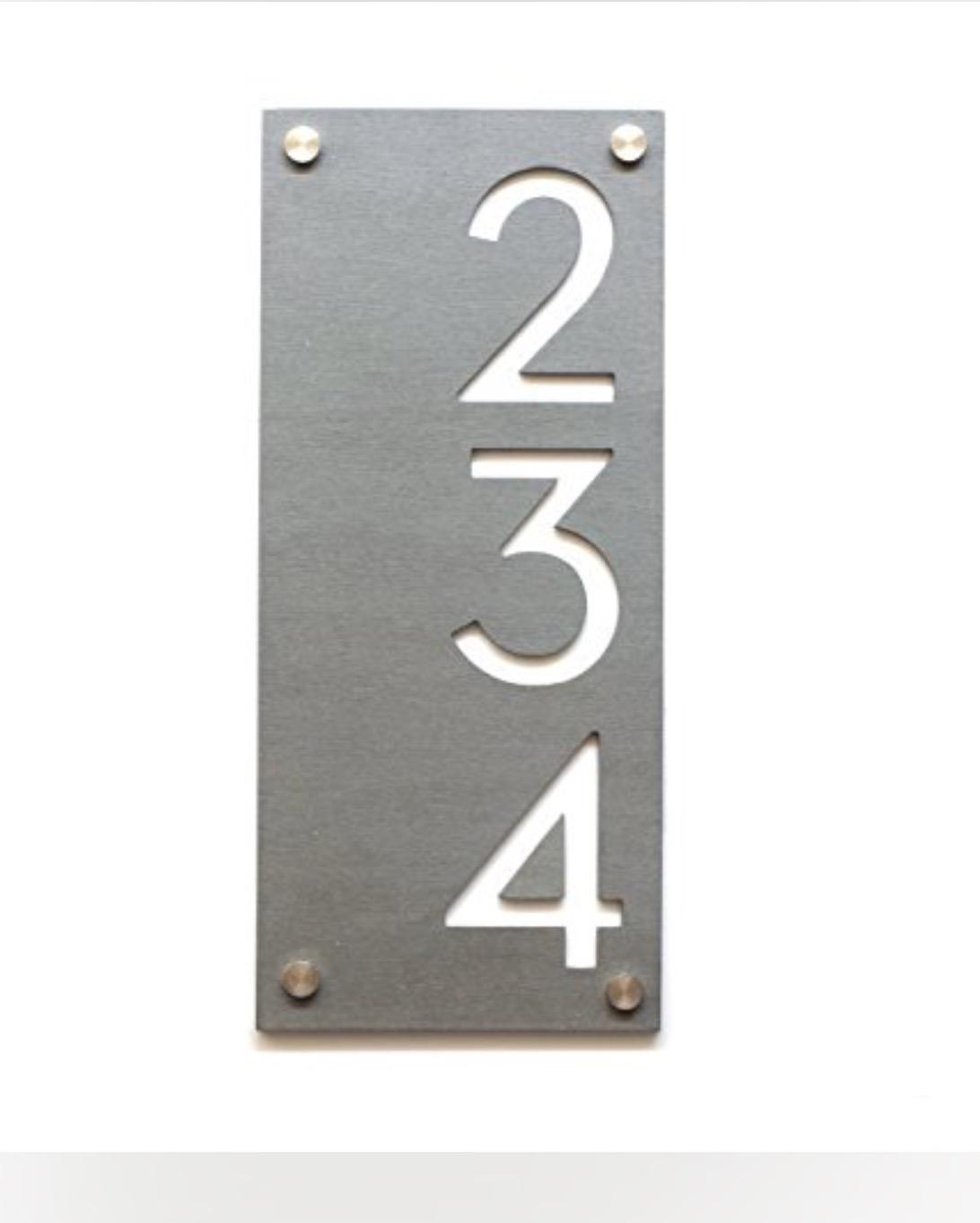 Richardson Remodel Address Plaque