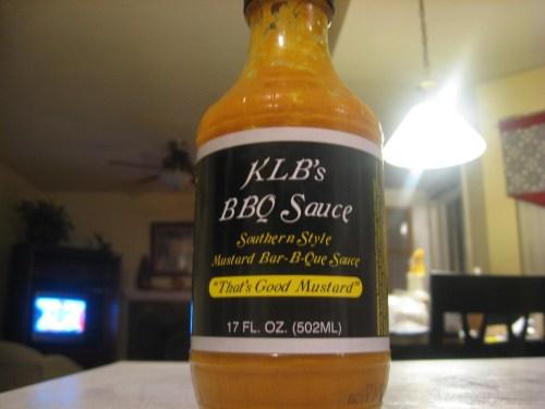 "KLB's ""That's Good Mustard"" BBQ Sauce"