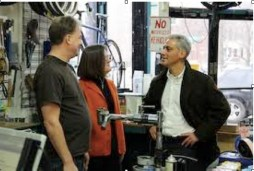 Mayor Rahm Emanuel visits