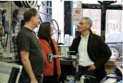 Mayor Rahm Emanuel visits