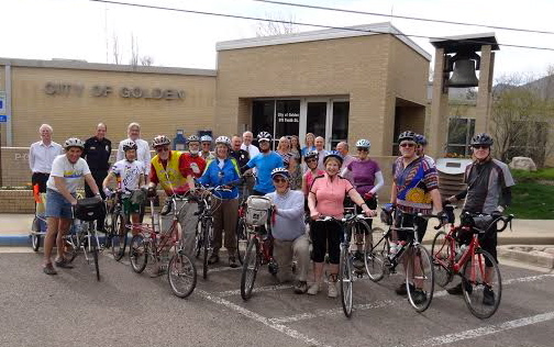Golden, CO Kicks off 2014 Mayors' Ride for Thomas Stevens 130th and Earth Day