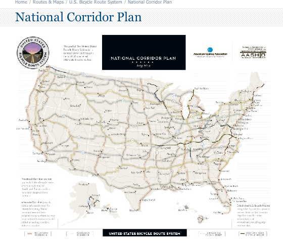 US Bicycle Route National Corridor Plan