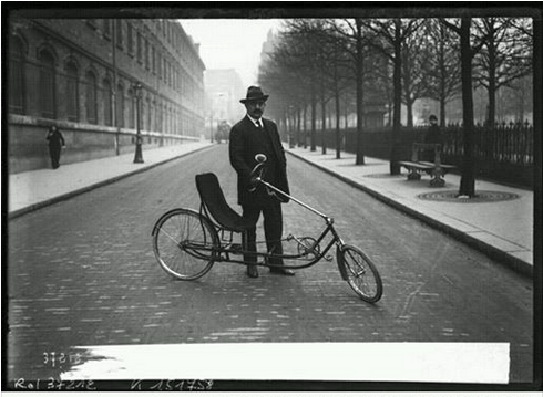 1914  Long Wheel Base Recumbent in France!!