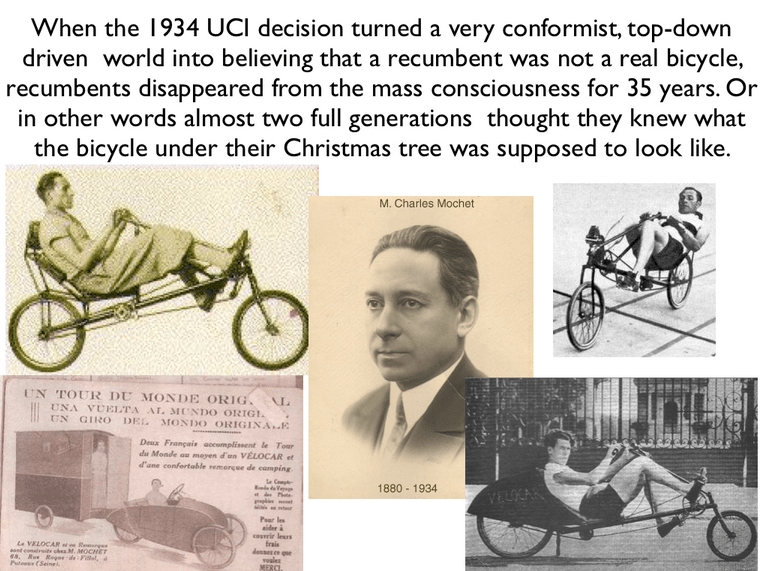 History of the Modern Day Recumbent
