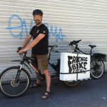 Ebikes carry tools and bikes.