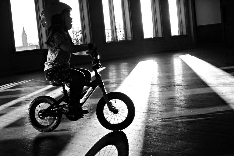 Biking with kids: crashing and learning